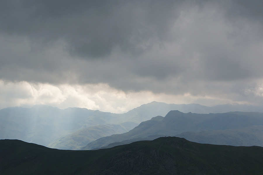 Looking west from Dove Crag towards the central fells