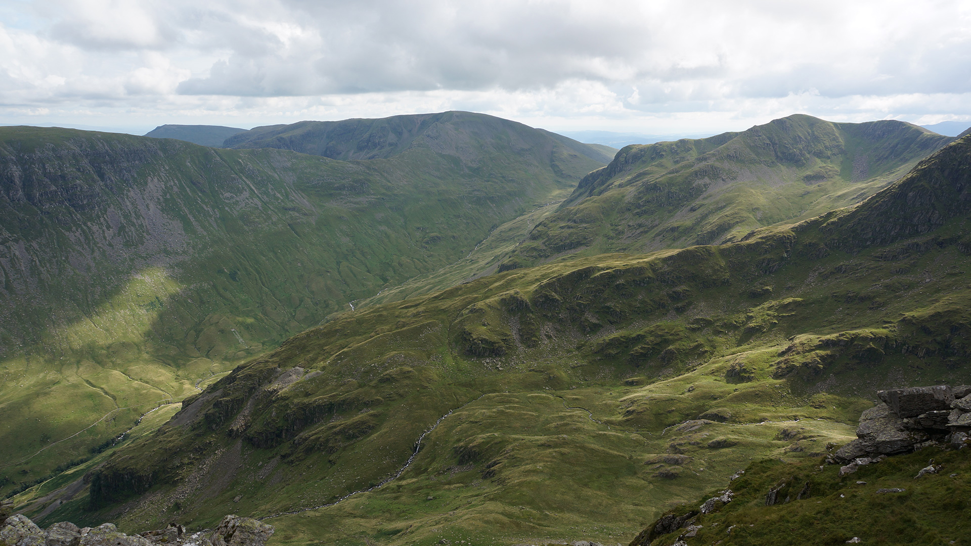 View west from Striding Edge