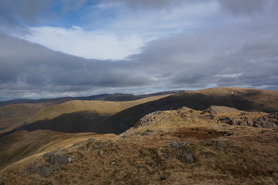 The view east from Little Hart Crag
