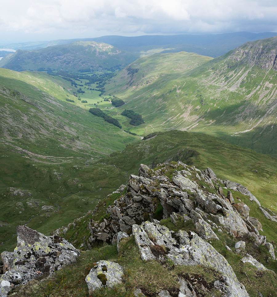 View down into Grisedale