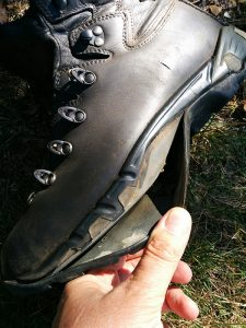 Outsole coming away from boot