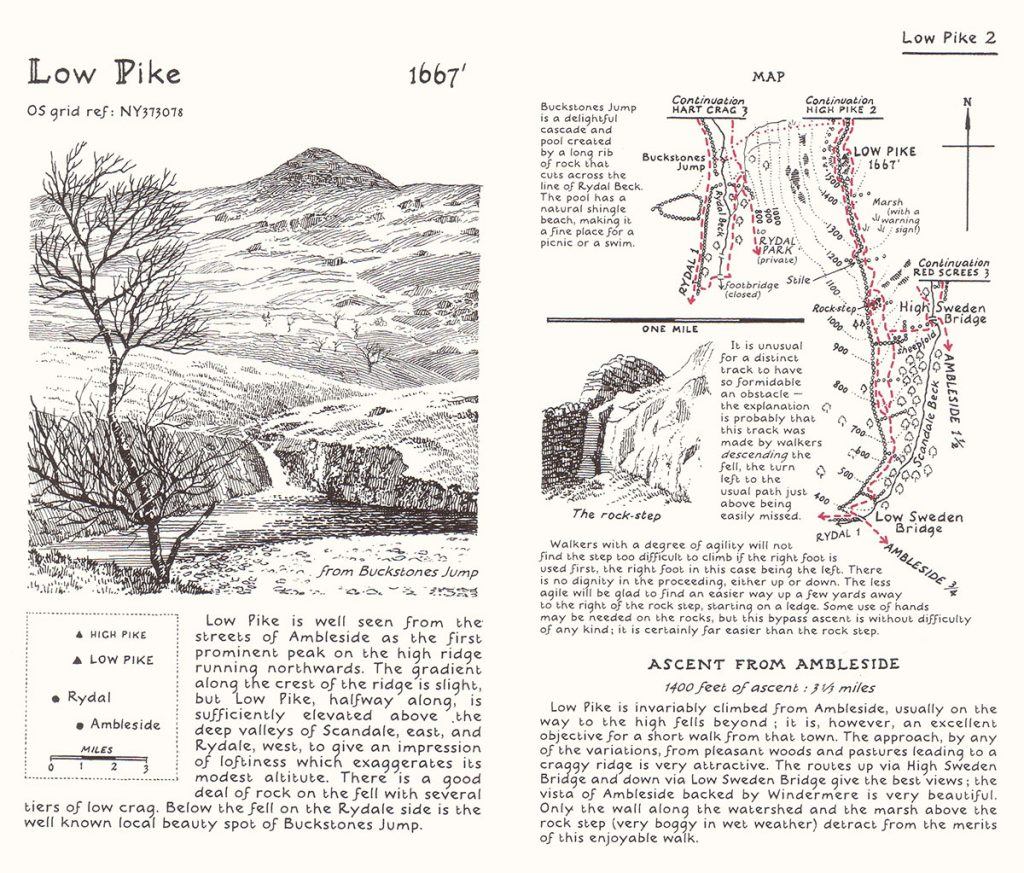 Spread from a Wainwright guide