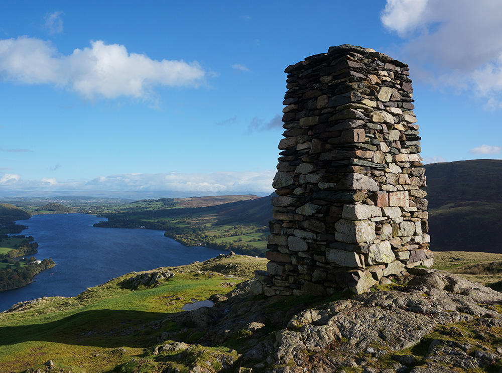 Hallin Fell summit cairn
