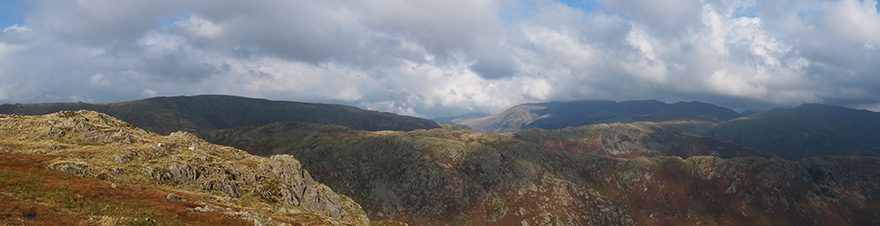 Looking east from Harrison Stickle summit