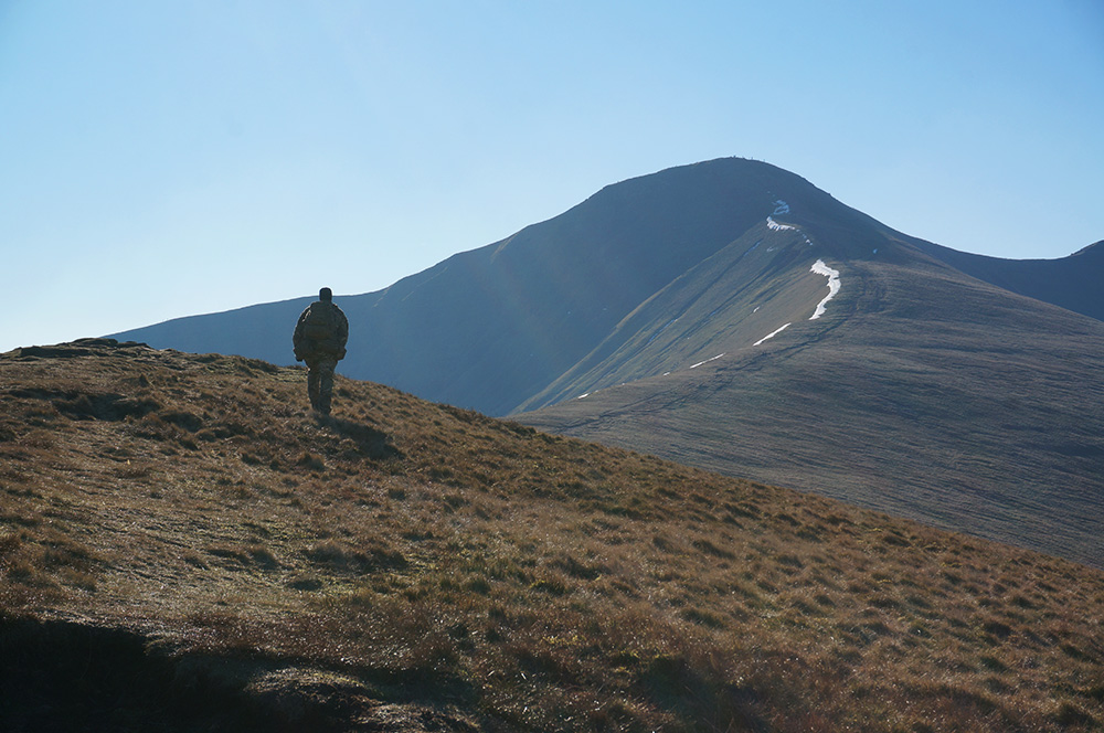 Cefn Cwm Llwch ridge line