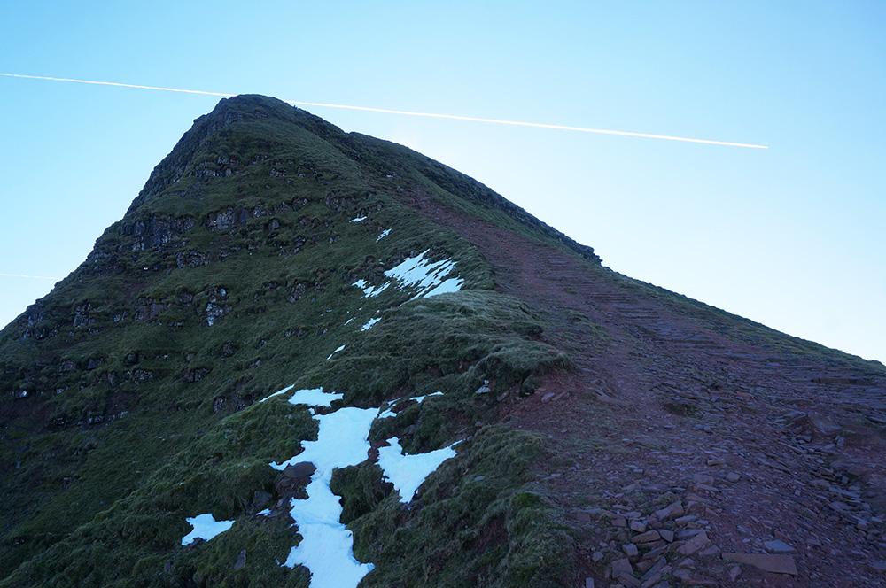Steep path to Pen y Fan summit