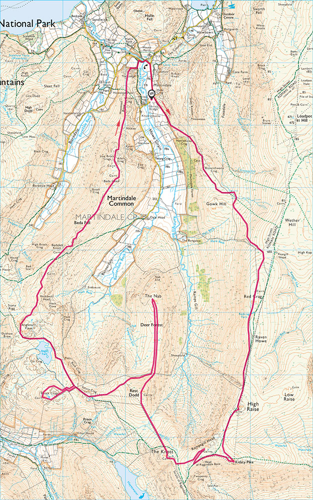 The Martindale Round route map