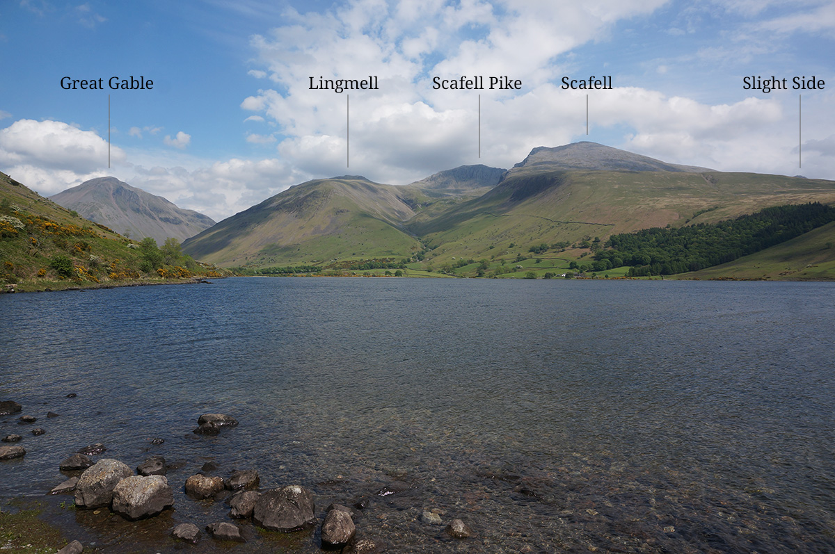 The Scafell Massif from Wastwater