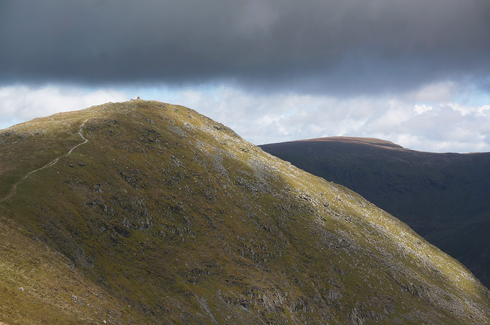 The approach to Ill Bell summit from Yoke