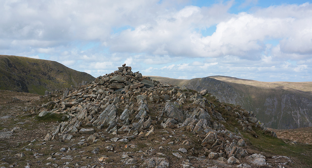 The summit cairn of Mardale Ill Bell