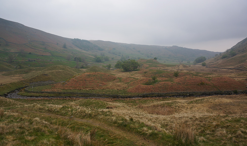 Hummocky landscape in the upper Swindale valley