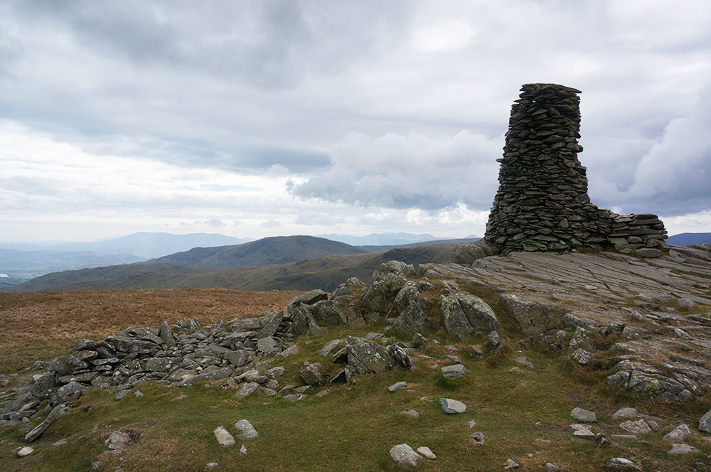 Thornthwaite Crag beacon, looking south west