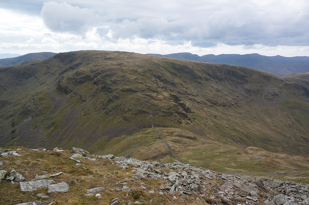 Looking across Threshthwaite Mouth to Caudale Moor