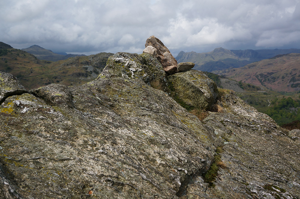 Rock at Holme Fell summit