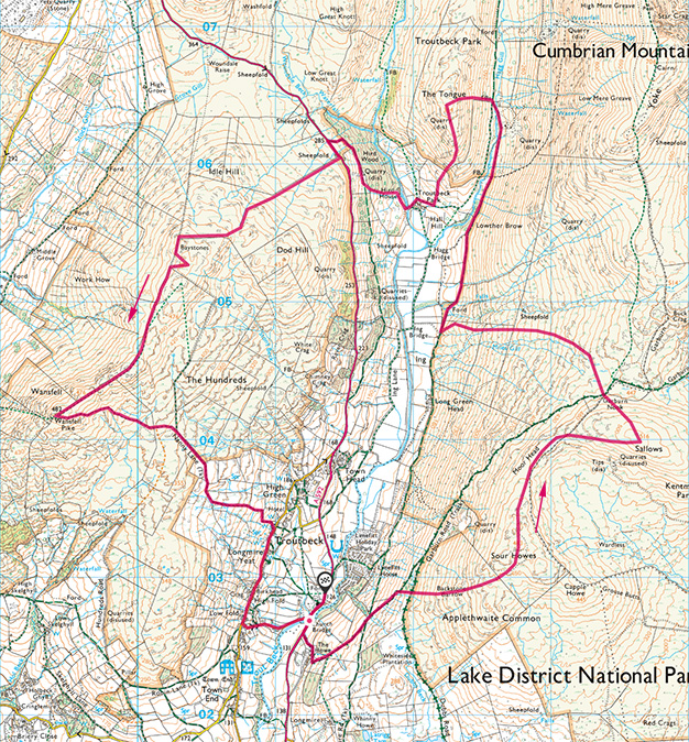 Troutbeck Medley map