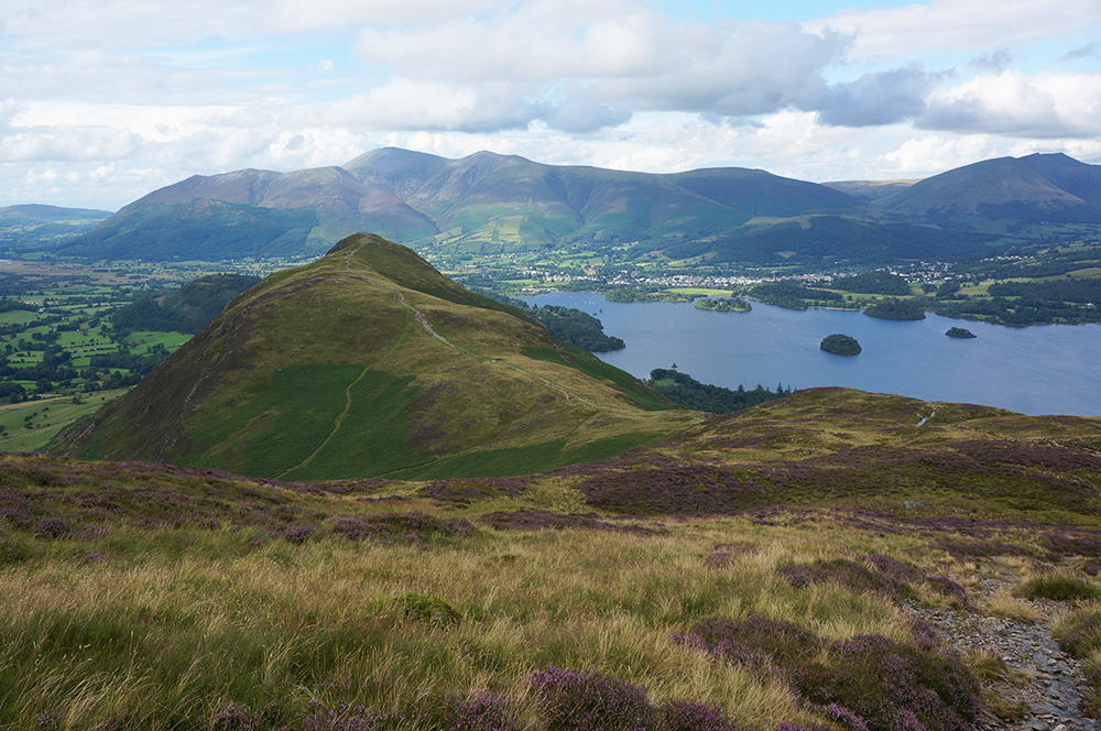 Catbells in the foreground with Skiddaw beyond