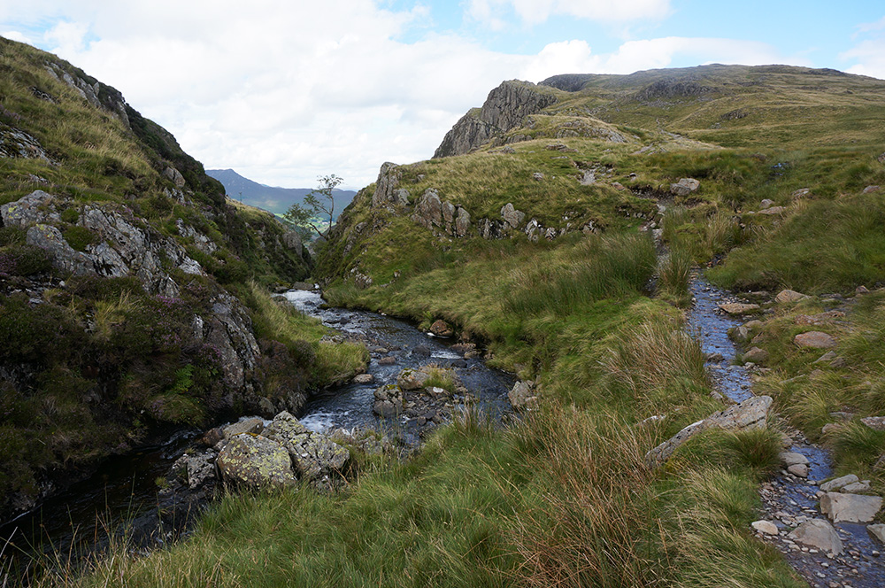 A lovely notch carved out by the Dale Head Tarn outflow stream
