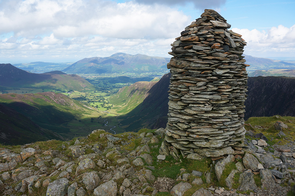 The impressive Dale Head summit cairn