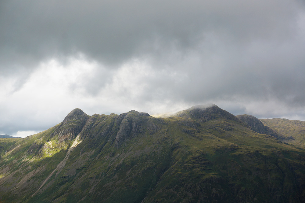 The Langdale Pikes from Pike o'Blisco