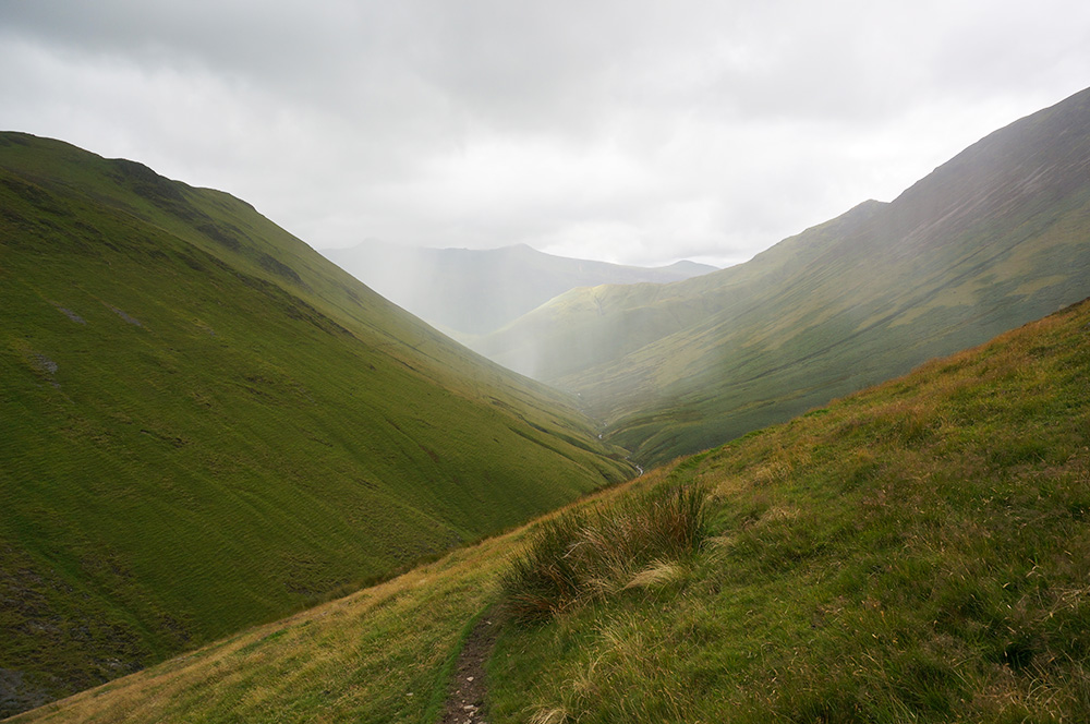 Rain approaching from the west at Rigg Beck