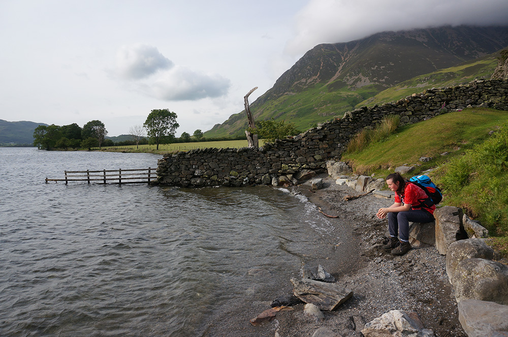 Sitting at the shore of Crummock Water