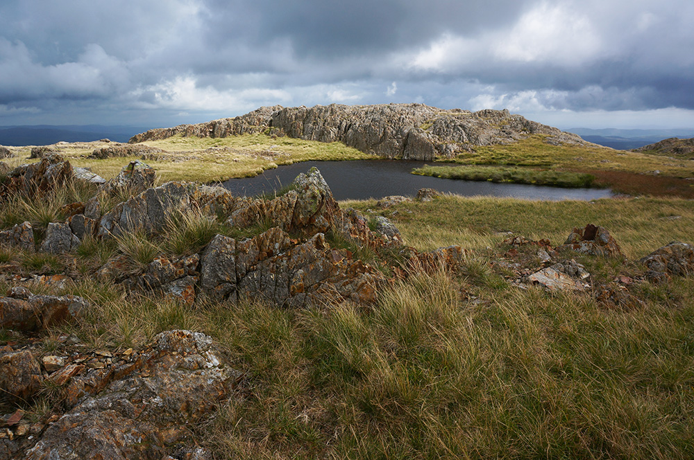 The small tarn, about 1km from Wetherlam summit