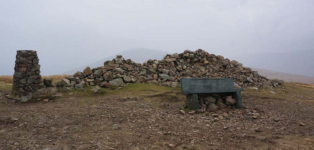 High Pike summit with seat