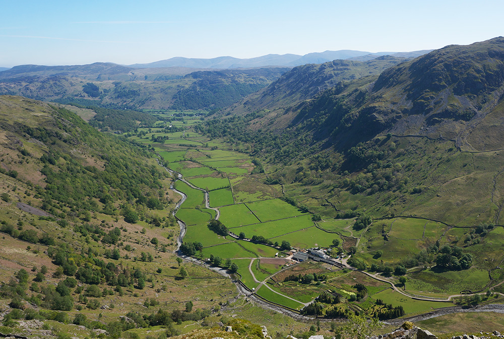 Seathwaite from above