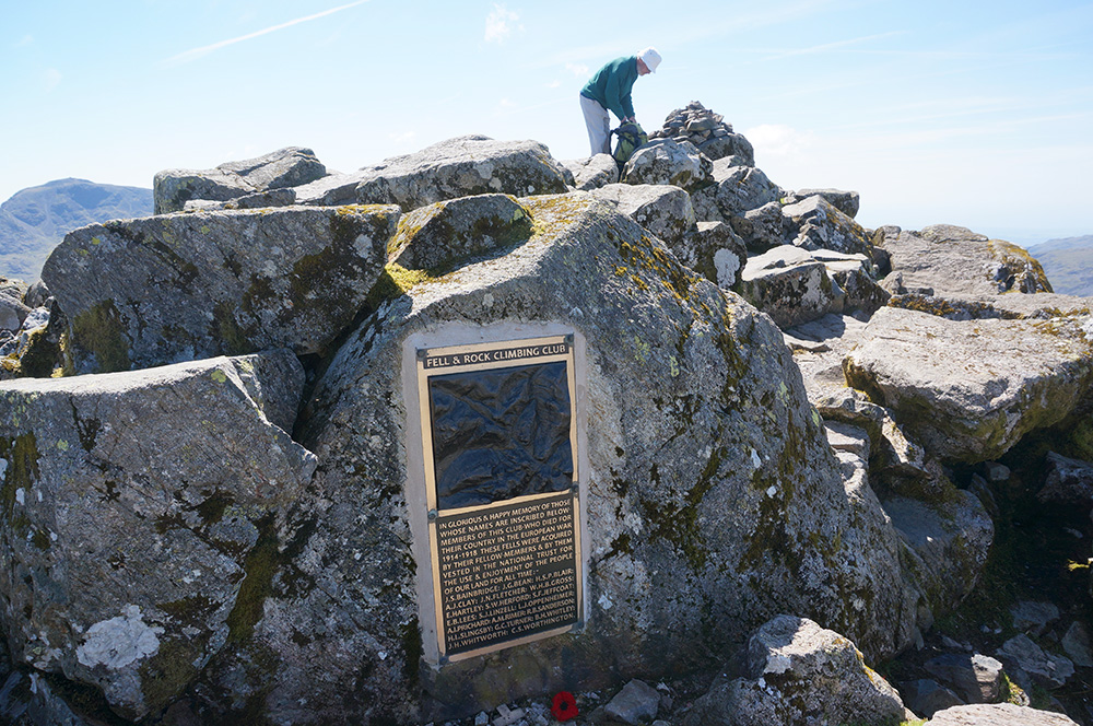 War memorial at Great Gable