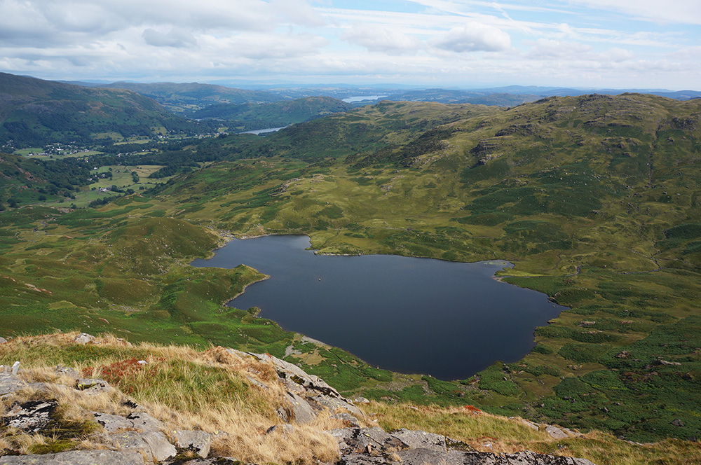 The view over Easedale Tarn