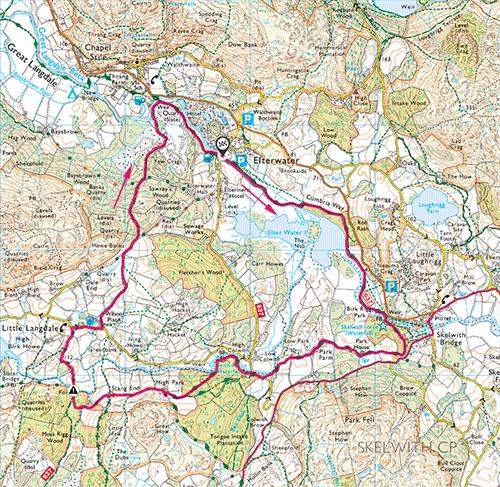 Elterwater Round map