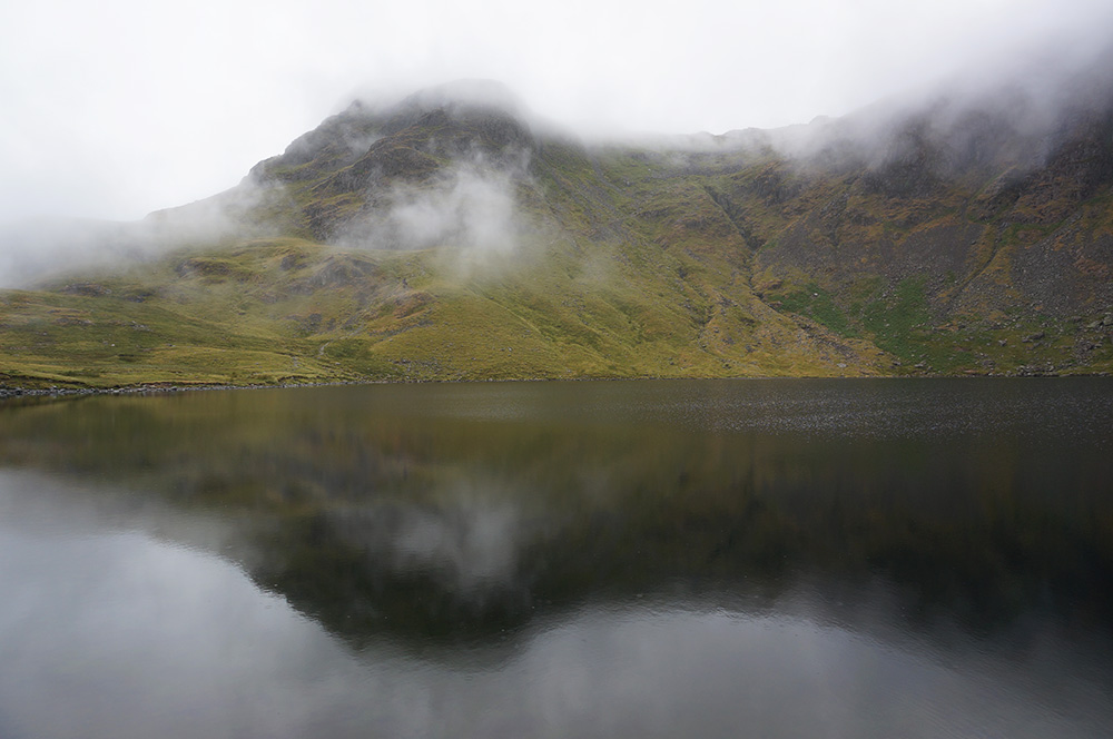 Harrison Stickle in mist