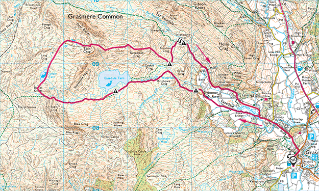 Tarn Crag map