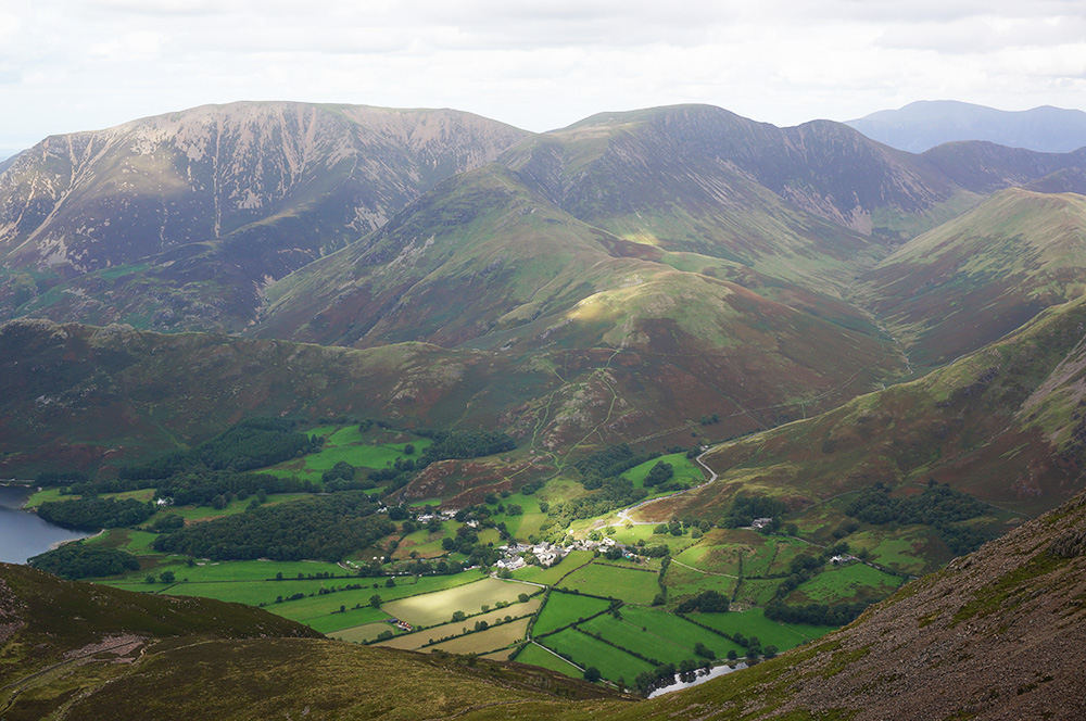 Buttermere as seen from High Stile