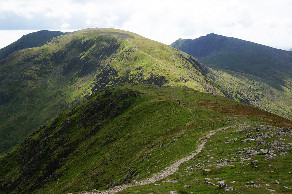 The view south from Levers Hawse