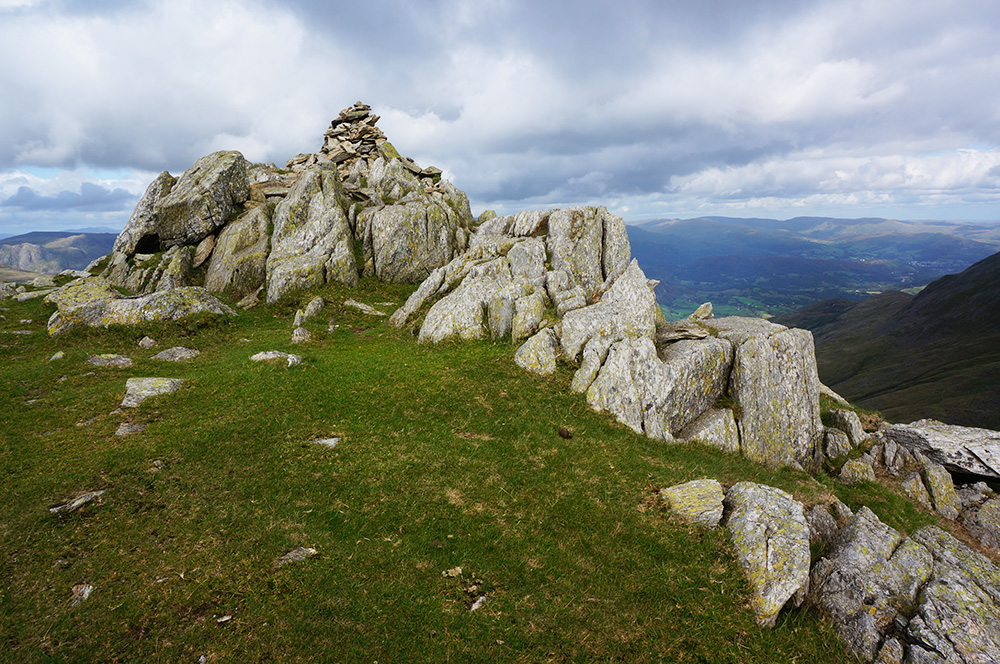 Great Carrs summit cairn