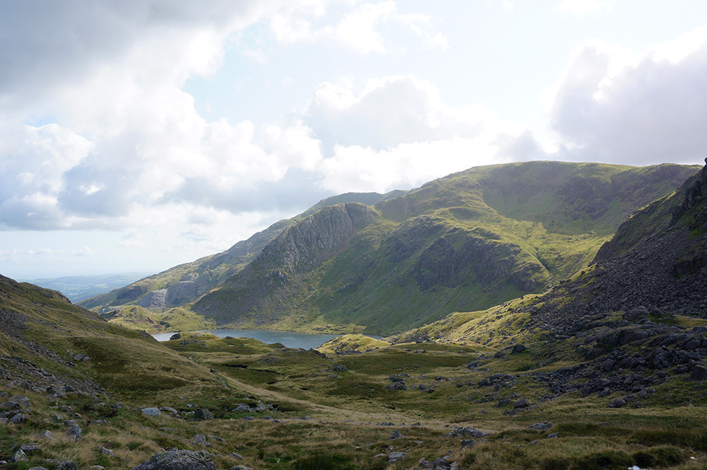 Levers Water and Coniston Old Man