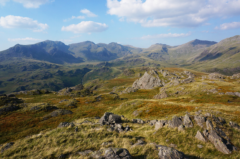 The view north from Hard Knott summit