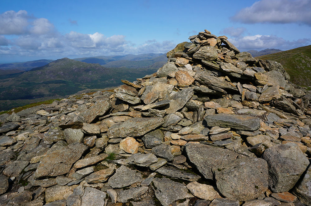 Brown Pike summit cairn