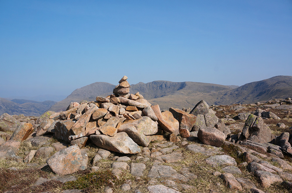 Iron Crag summit cairn