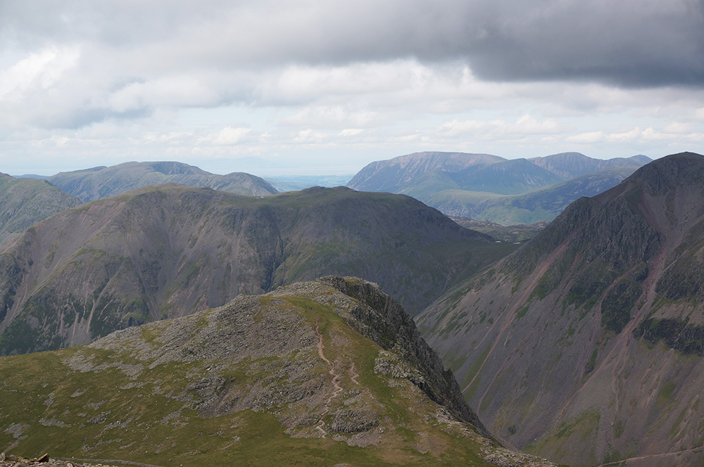 Lingmell, Kirk Fell and Great Gable