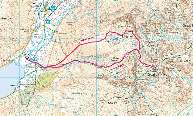 Scafell Pike route