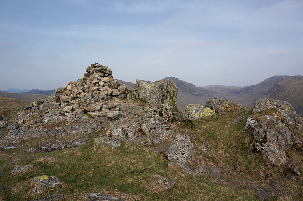 Yewbarrow summit cairn