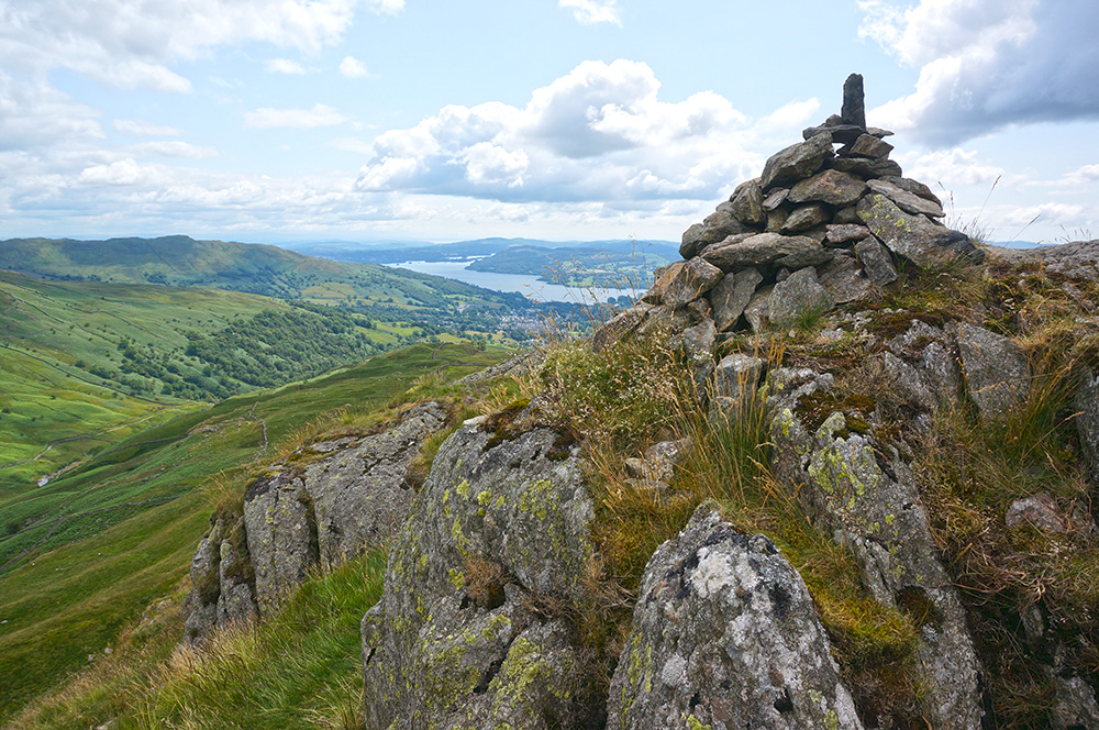 Low Pike summit cairn