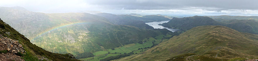 View from Corfa Pike with rainbow