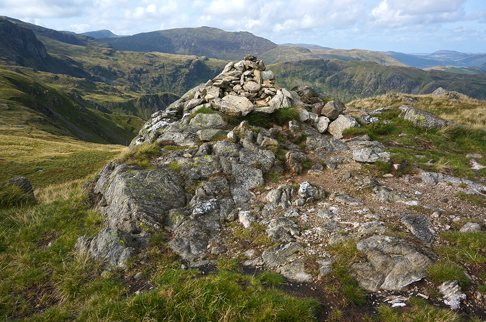 Little Hart Crag summit cairn