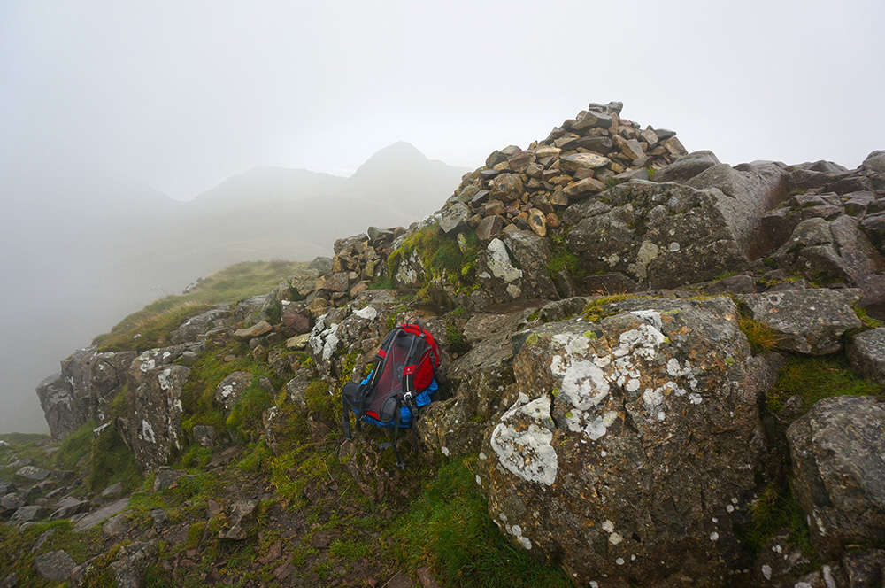 Pike o'Stickle summit cairn