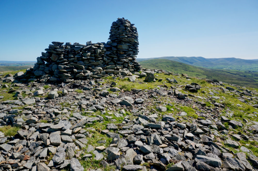 The cairn at Whinfell Beacon