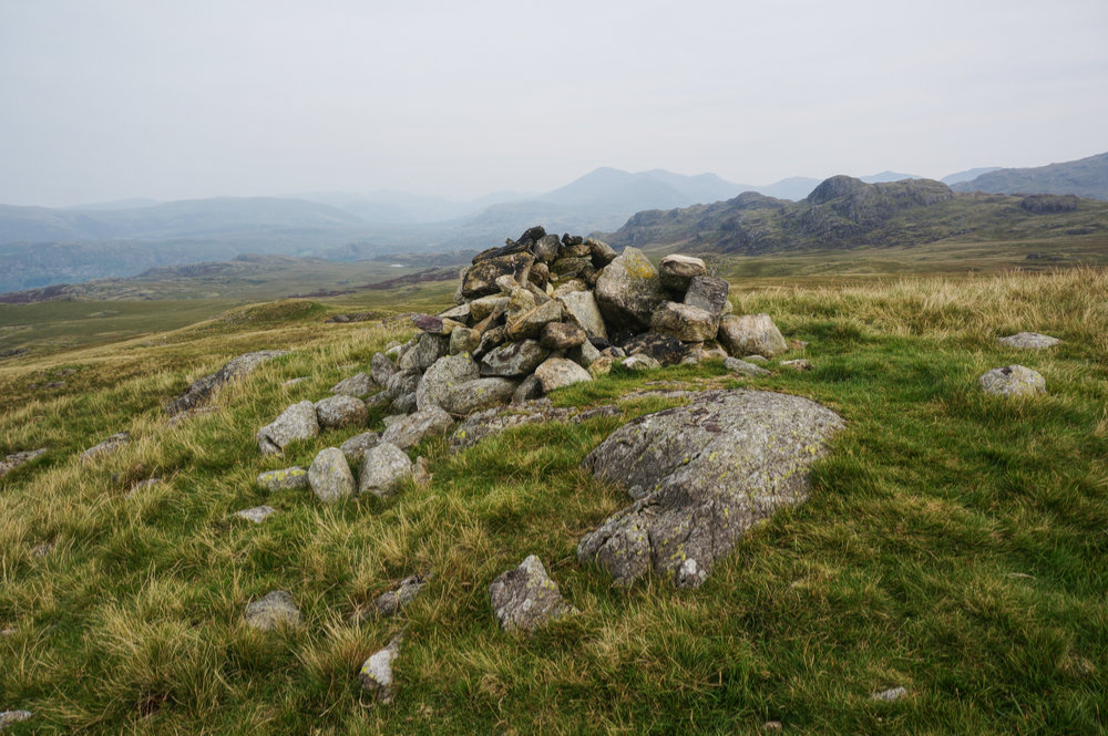 The summit at Great Worm Crag
