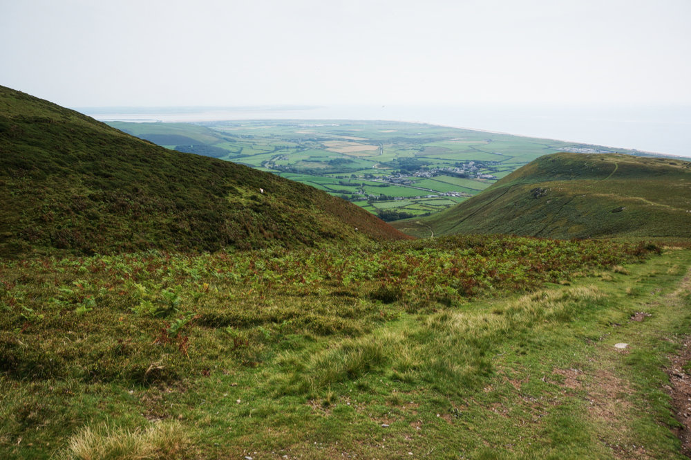 Looking due south from the bridleway to Black Combe summit